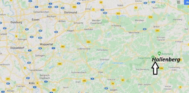 Wo liegt Hallenberg (59969)? Wo ist Hallenberg