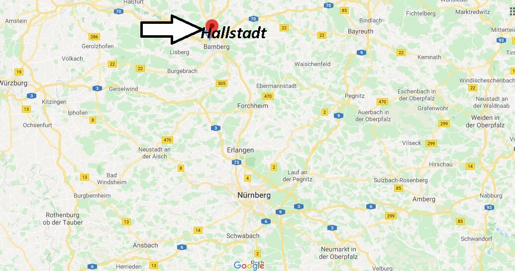 Wo liegt Hallstadt (96103)? Wo ist Hallstadt