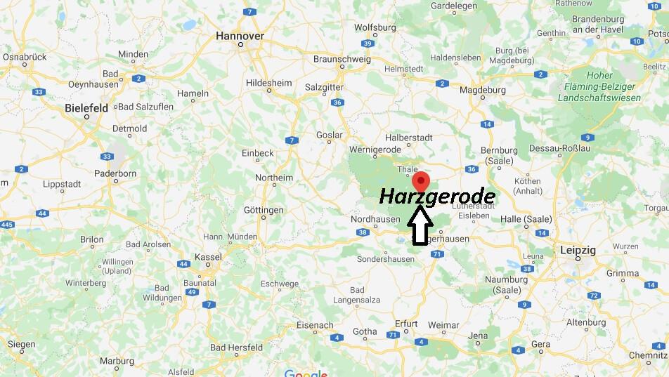 Wo liegt Harzgerode (06493)? Wo ist Harzgerode