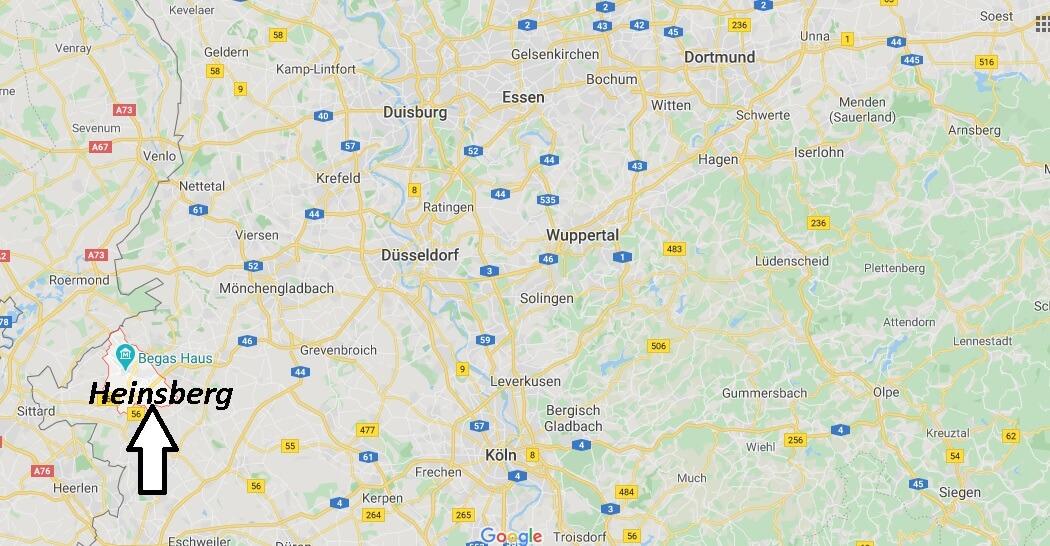 Wo liegt Heinsberg (52525)? Wo ist Heinsberg