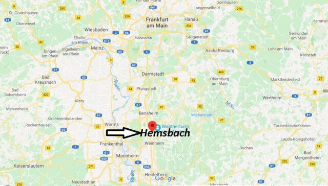 Wo liegt Hemsbach (69502)? Wo ist Hemsbach