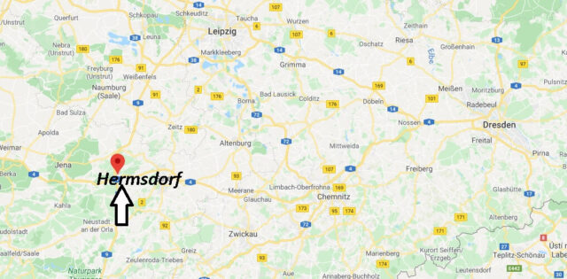 Wo liegt Hermsdorf? Wo ist Hermsdorf