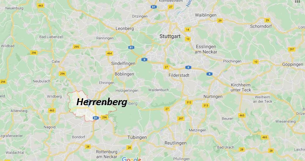Wo liegt Herrenberg (71083)? Wo ist Herrenberg