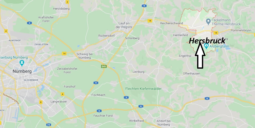 Wo liegt Hersbruck (91217)? Wo ist Hersbruck