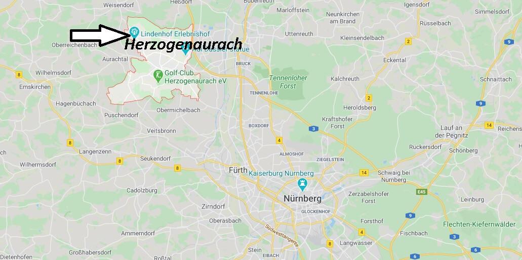 Wo liegt Herzogenaurach (91074)? Wo ist Herzogenaurach