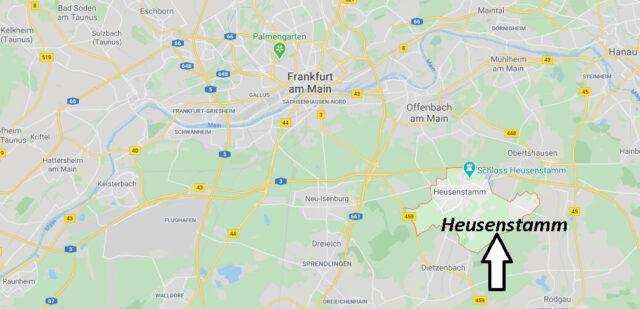 Wo liegt Heusenstamm (63150)? Wo ist Heusenstamm