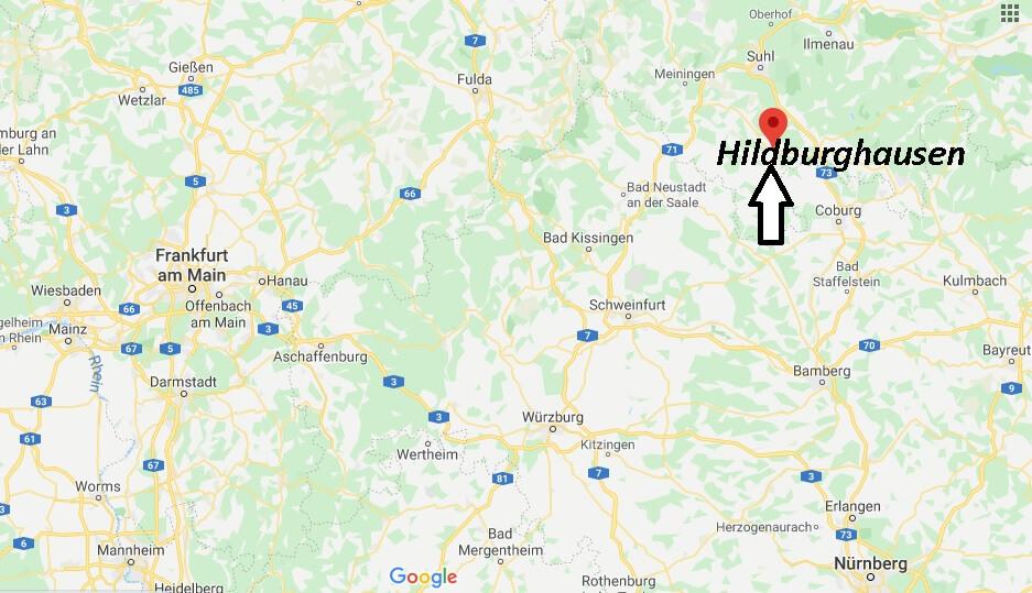 Wo liegt Hildburghausen (98646)? Wo ist Hildburghausen