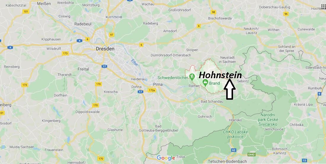 Wo liegt Hohnstein? Wo ist Hohnstein