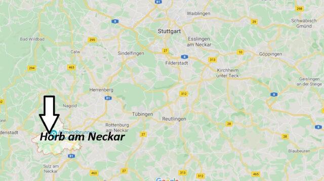 Wo liegt Horb am Neckar (72160)? Wo ist Horb am Neckar