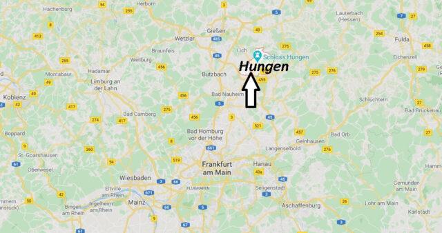 Wo liegt Hungen (35410)? Wo ist Hungen