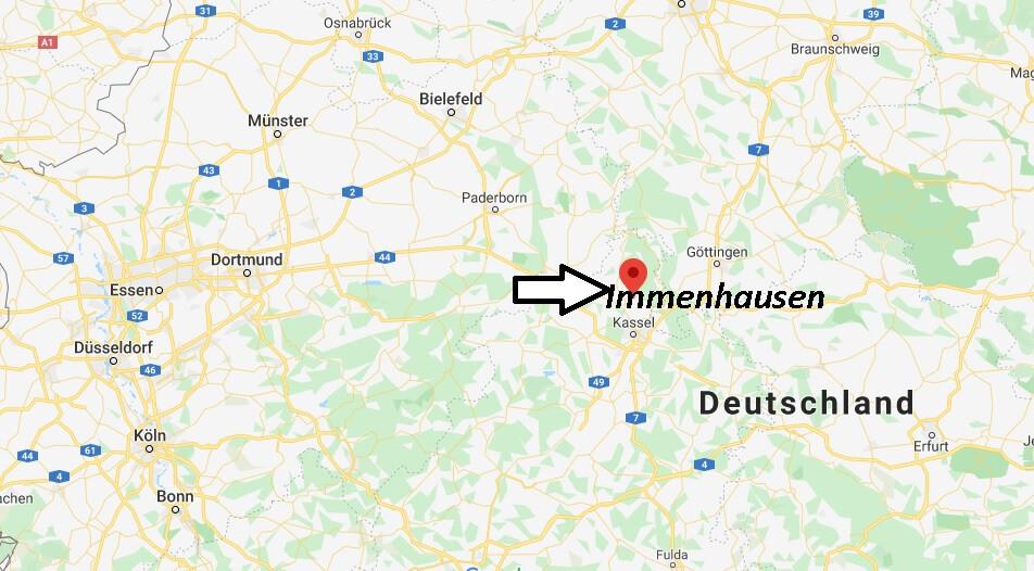 Wo liegt Immenhausen (34376)? Wo ist Immenhausen