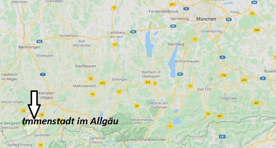 Wo liegt Immenstadt im Allgäu (87509)? Wo ist Immenstadt im Allgäu