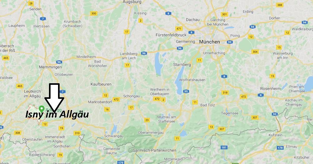 Wo liegt Isny im Allgäu (88316)? Wo ist Isny im Allgäu