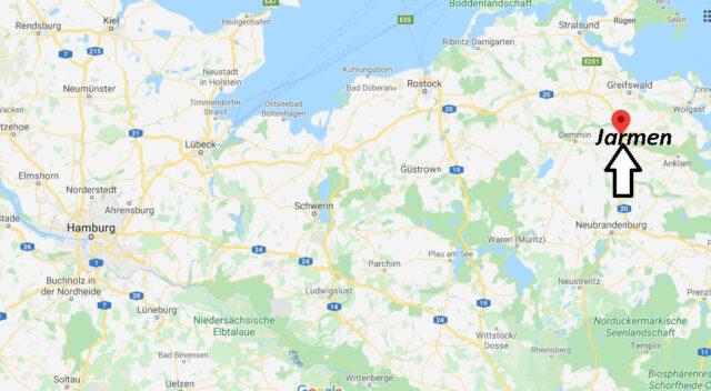 Wo liegt Jarmen (17126)? Wo ist Jarmen