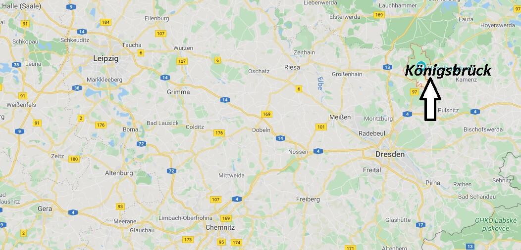 Wo liegt Königsbrück (01936)? Wo ist Königsbrück