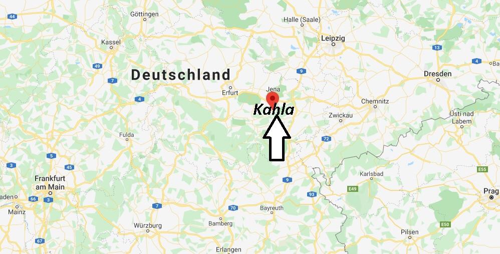 Wo liegt Kahla (07768)? Wo ist Kahla
