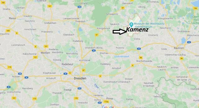 Wo liegt Kamenz (01917)? Wo ist Kamenz