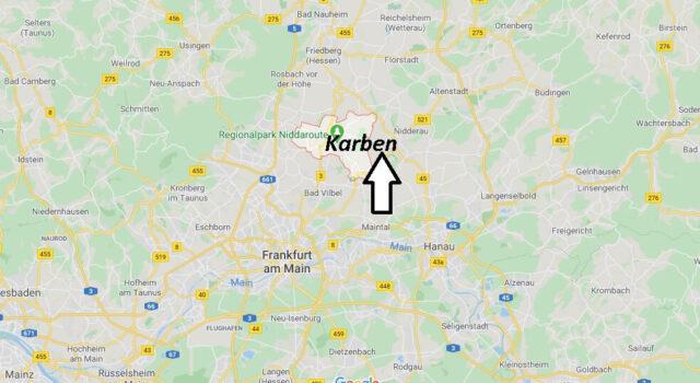 Wo liegt Karben (61184)? Wo ist Karben