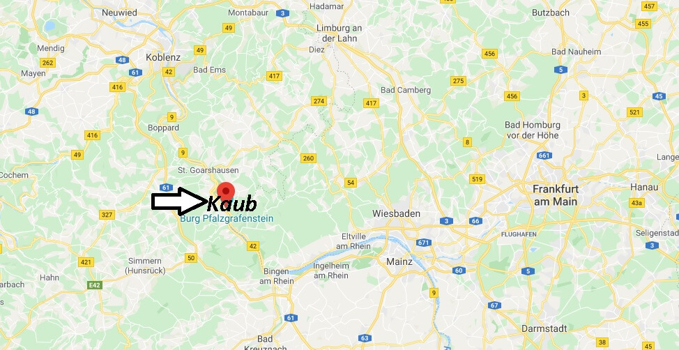 Wo liegt Kaub (56349)? Wo ist Kaub