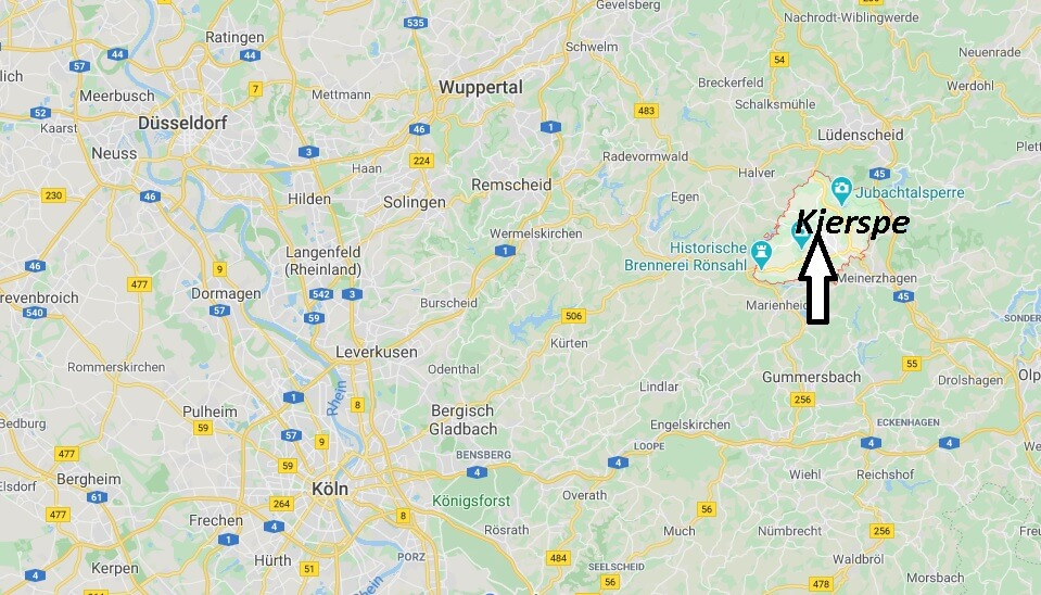 Wo liegt Kierspe (58566)? Wo ist Kierspe