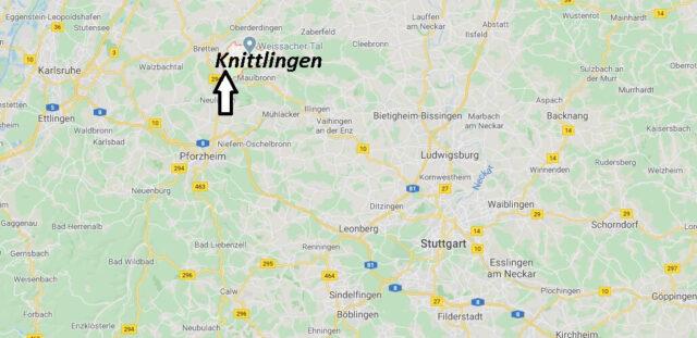 Wo liegt Knittlingen (75438)? Wo ist Knittlingen