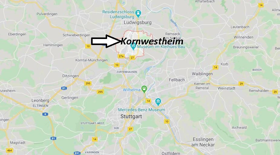 Wo liegt Kornwestheim (70806)? Wo ist Kornwestheim