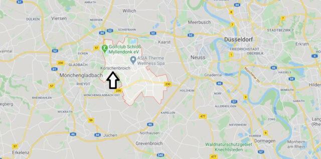 Wo liegt Korschenbroich (41352)? Wo ist Korschenbroich