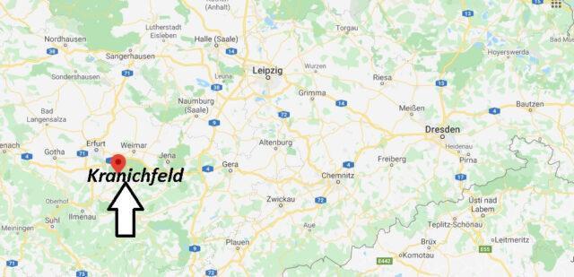 Wo liegt Kranichfeld (99448)? Wo ist Kranichfeld