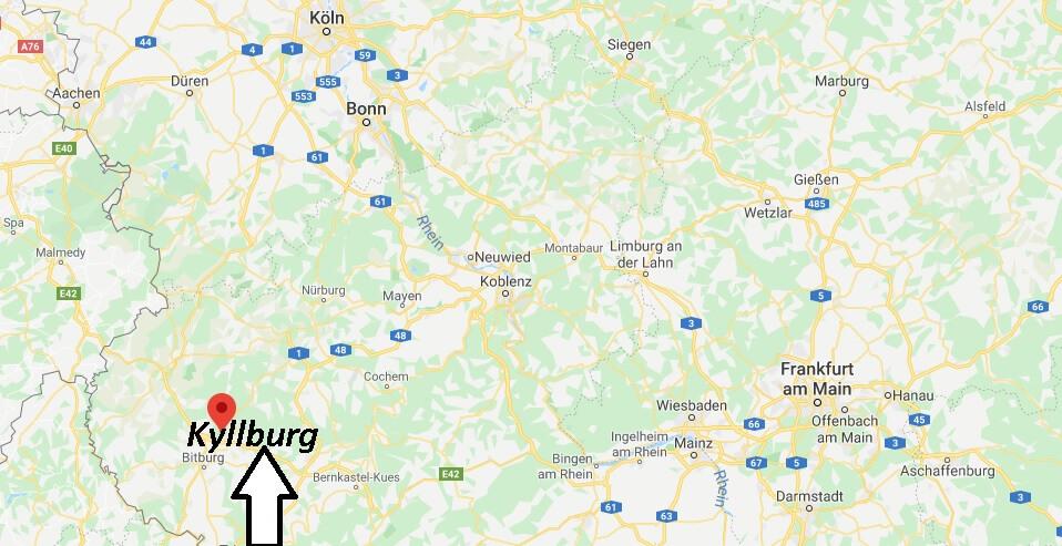 Wo liegt Kyllburg (54655)? Wo ist Kyllburg