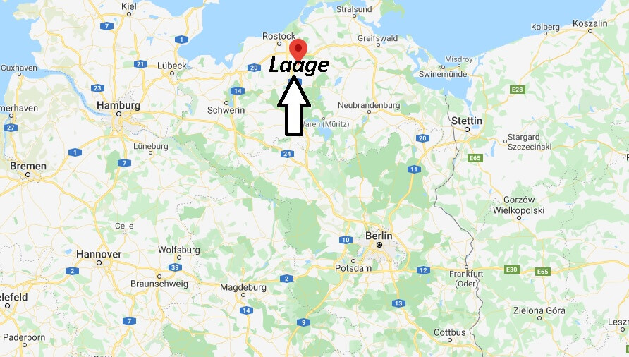 Wo liegt Laage (18299)? Wo ist Laage