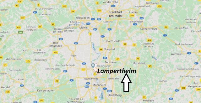 Wo liegt Lampertheim (68623)? Wo ist Lampertheim