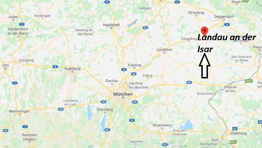 Wo liegt Landau an der Isar (94405)? Wo ist Landau an der Isar