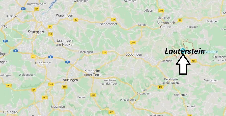 Wo liegt Lauterstein? Wo ist Lauterstein (Postleitzahl 73111)