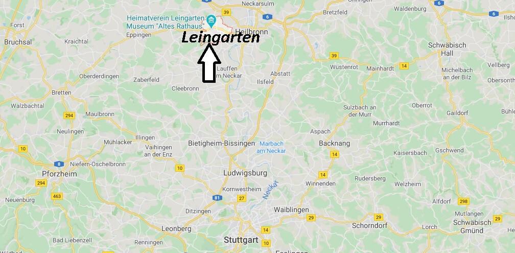 Wo liegt Leingarten? Wo ist Leingarten (Postleitzahl 74211)