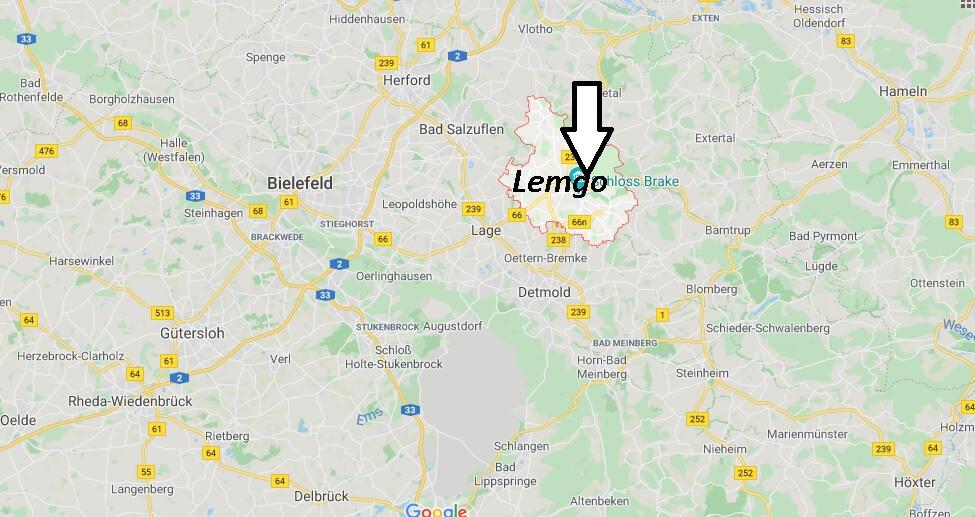 Wo liegt Lemgo? Wo ist Lemgo (Postleitzahl 32657)