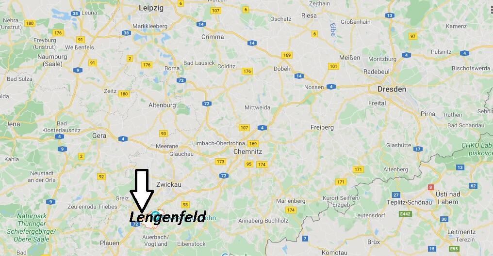 Wo liegt Lengenfeld? Wo ist Lengenfeld (Postleitzahl 08485)