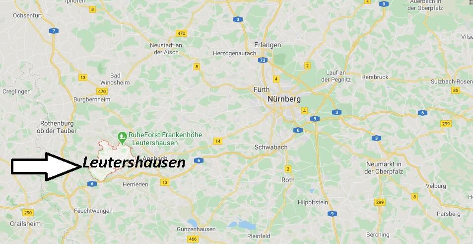 Wo liegt Leutershausen? Wo ist Leutershausen (Postleitzahl 91578)