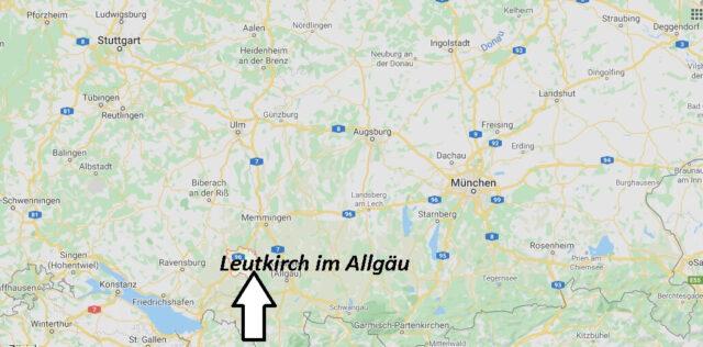 Wo liegt Leutkirch im Allgäu? Wo ist Leutkirch im Allgäu (Postleitzahl 88299)