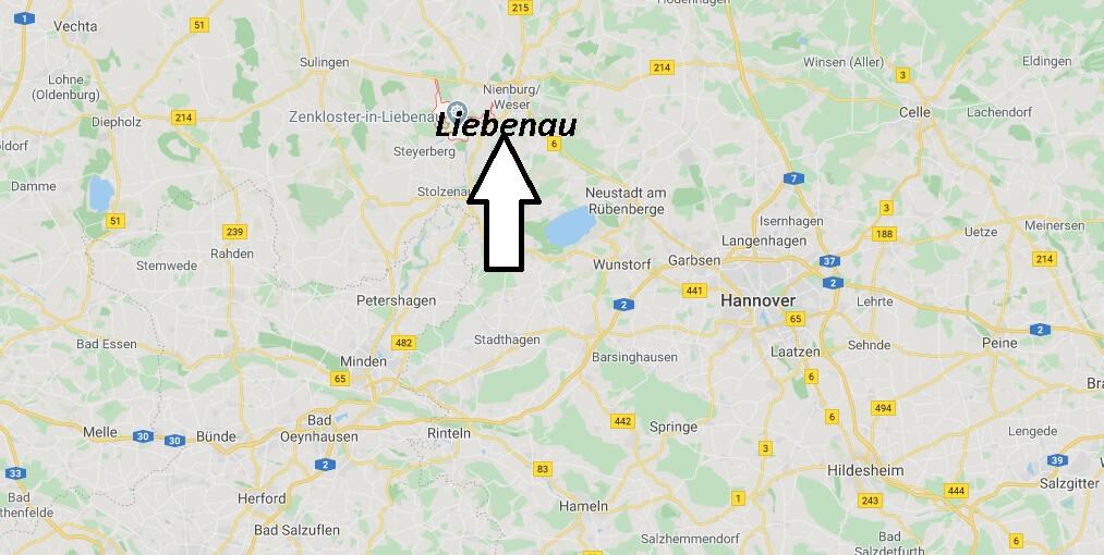 Wo liegt Liebenau? Wo ist Liebenau (Postleitzahl 31618)