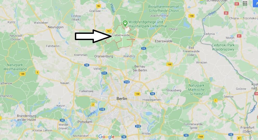 Wo liegt Liebenwalde? Wo ist Liebenwalde (Postleitzahl 16559)