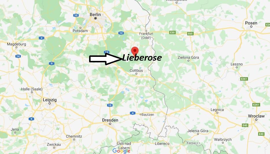 Wo liegt Lieberose? Wo ist Lieberose (Postleitzahl 15868)