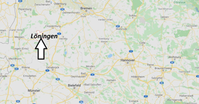 Wo liegt Löningen? Wo ist Löningen (Postleitzahl 49624)