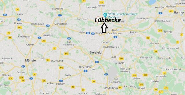 Wo liegt Lübbecke? Wo ist Lübbecke (Postleitzahl 32312)
