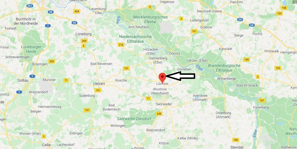 Wo liegt Lüchow? Wo ist Lüchow (Wendland) (Postleitzahl 29439)