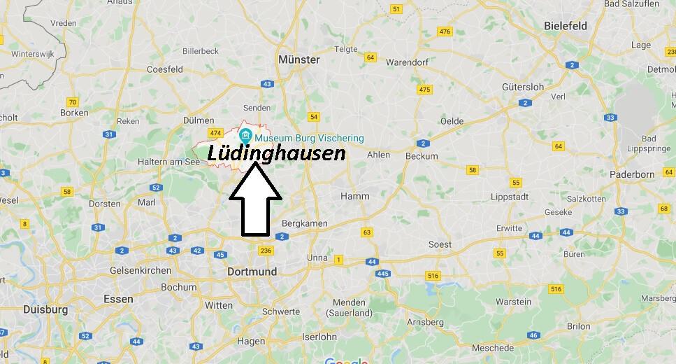 Wo liegt Lüdinghausen? Wo ist Lüdinghausen (Postleitzahl 59348)