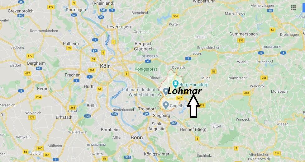 Wo liegt Lohmar - Wo ist Lohmar (Postleitzahl 53797)