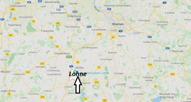 Wo liegt Lohne? Wo ist Lohne (Postleitzahl 49393)