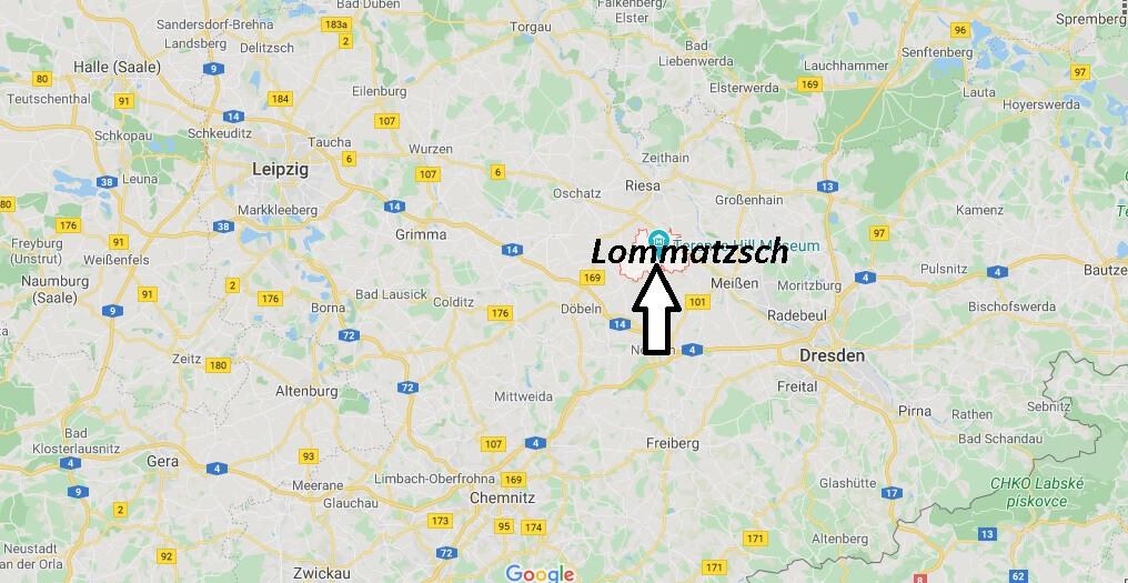 Wo liegt Lommatzsch? Wo ist Lommatzsch (Postleitzahl 01623)