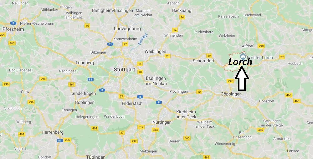 Wo liegt Lorch? Wo ist Lorch (Postleitzahl 73547)