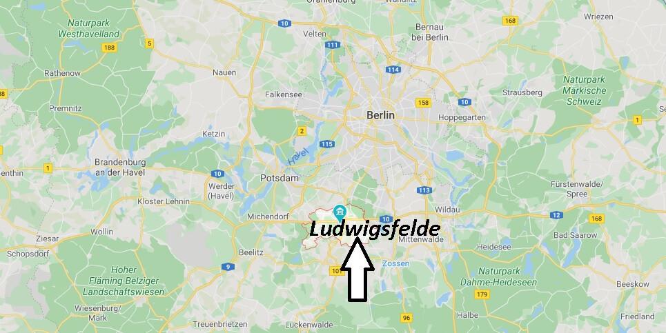 Wo liegt Ludwigsfelde? Wo ist Ludwigsfelde (Postleitzahl 14974)